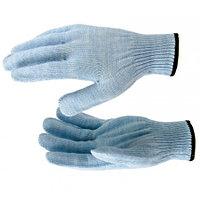 Перчатки трикотажные, акрил, цвет: голубой, оверлок, Россия. СИБРТЕХ
