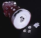 """Игрушка световая """"Дед мороз усач"""" (батарейки в комплекте) 1 LED, RGB , фото 4"""