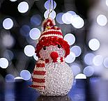 "Игрушка световая ""Снеговик"" (батарейки в комплекте) 6х13 см, 1 LED RGB, КРАСНЫЙ , фото 2"