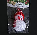 "Игрушка световая ""Снеговик"" (батарейки в комплекте) 6х13 см, 1 LED RGB, КРАСНЫЙ , фото 3"