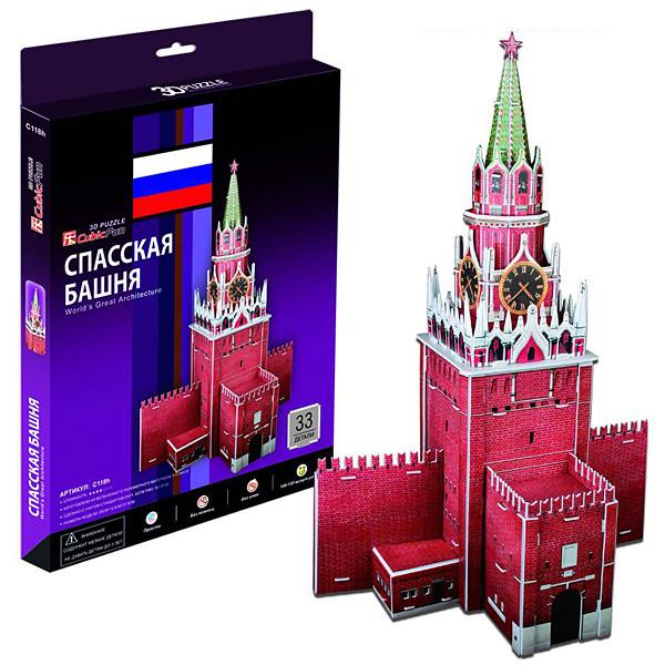 Игрушка Спасская башня (Россия) - 3D Пазл (Конструкторы)