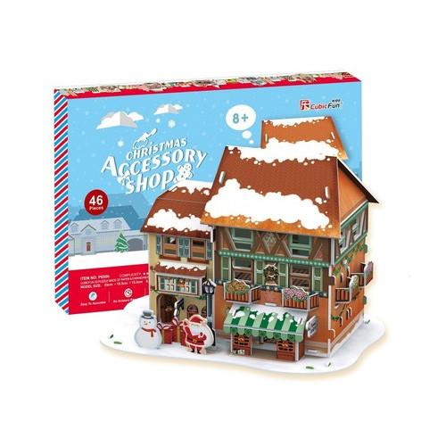 Игрушка Рождественский домик 4 ( с подсветкой ) - 3D Пазлы (Конструкторы)