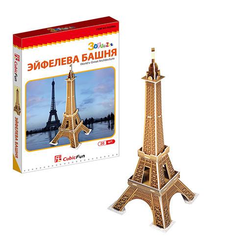 Игрушка  Эйфелева башня (Франция) (мини серия) - 3D Пазлы (Конструкторы)