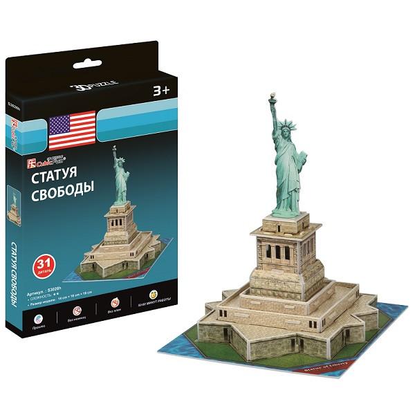 Игрушка  Статуя Свободы (США) (мини серия) - 3D Пазлы (Конструкторы)