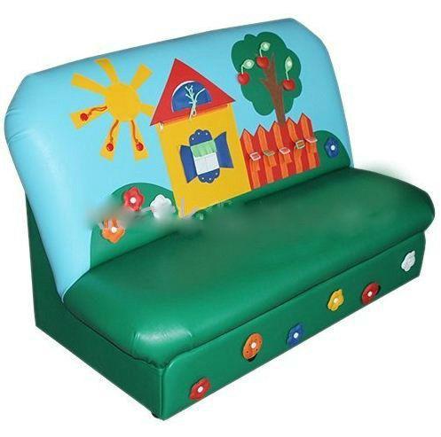 Дидактический диван – Диван с дидактическими элементами без подлокотников