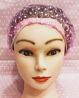 Полиэтиленовая шапочка. Цвет розовый