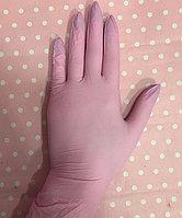 Нитриловые нестерильные, одноразовые неопудренные перчатки. Цвет розовый.