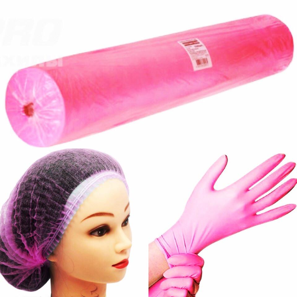 Нитриловые нестерильные, одноразовые неопудренные перчатки. Цвет розовый. - фото 2