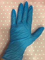 Нитриловые нестерильные, одноразовые неопудренные перчатки. Цвет голубой.