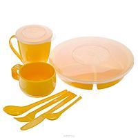 Набор посуды SOLARIS на 1 персону ВАХТОВЫЙ МЕТОД жёлтый (S1102)