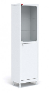 Медицинский шкаф одностворчатый M1 165.50.32 С (1655*х500х320 мм)