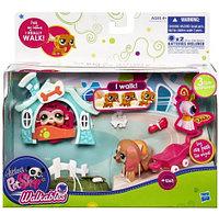 Littlest Pet Shop Walkables, Hasbro Игровой набор с ходячим зверьком Такса, фото 1