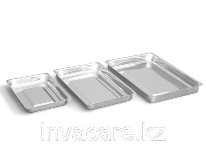 Лоток медицинский прямоугольный ЛМПу400 - «Ока-Медик»(v=3,0 л. из нержавеющей стали)