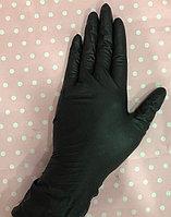 Нитриловые нестерильные,одноразовые неопудренные перчатки. Цвет черный.