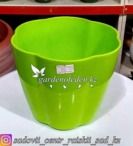 """Горшок пластиковый """"Ludu"""". Цвет: Зеленый. Объем: 2л., фото 2"""
