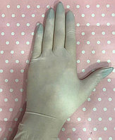 Латексные нестерильные, одноразовые опудренные перчатки. Размер L