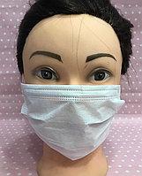 Медицинские маски на резинках (трехслойные)