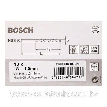 Свёрло по металлу HSS-R, DIN 338 Bosch 1x12x34мм в Казахстане, фото 2