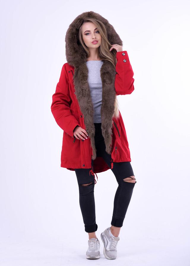 Куртка парка с натуаральным мехом под соболь ФОТО