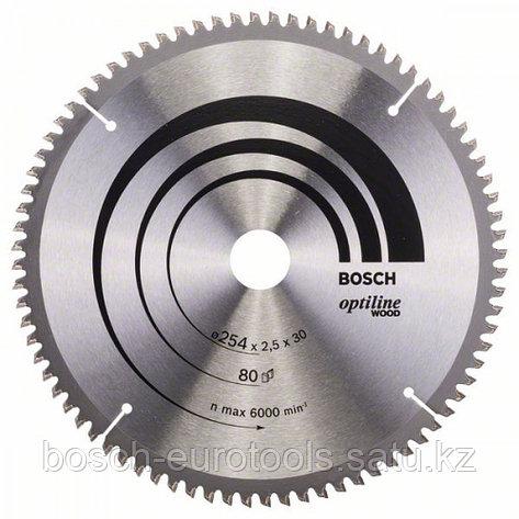 Пильный диск Optiline Wood 254 x 30 x 2,5 mm, 80 в Казахстане, фото 2