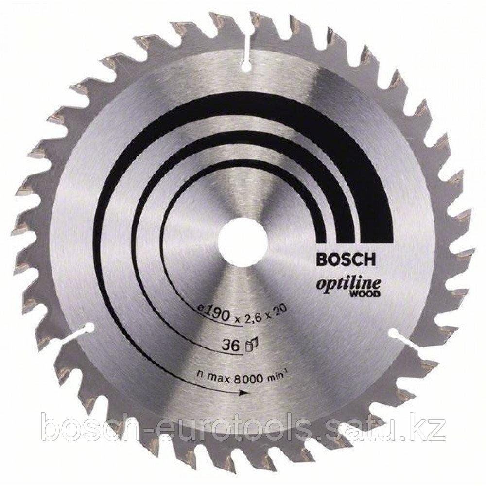 Пильный диск Optiline Wood 190 x 20/16 x 2,6 mm, 36 в Казахстане