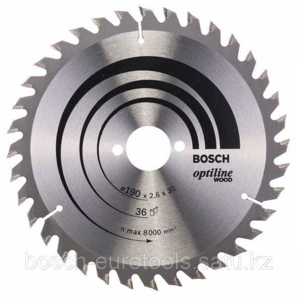 Пильный диск Optiline Wood 190 x 30 x 2,6 mm, 36 в Казахстане