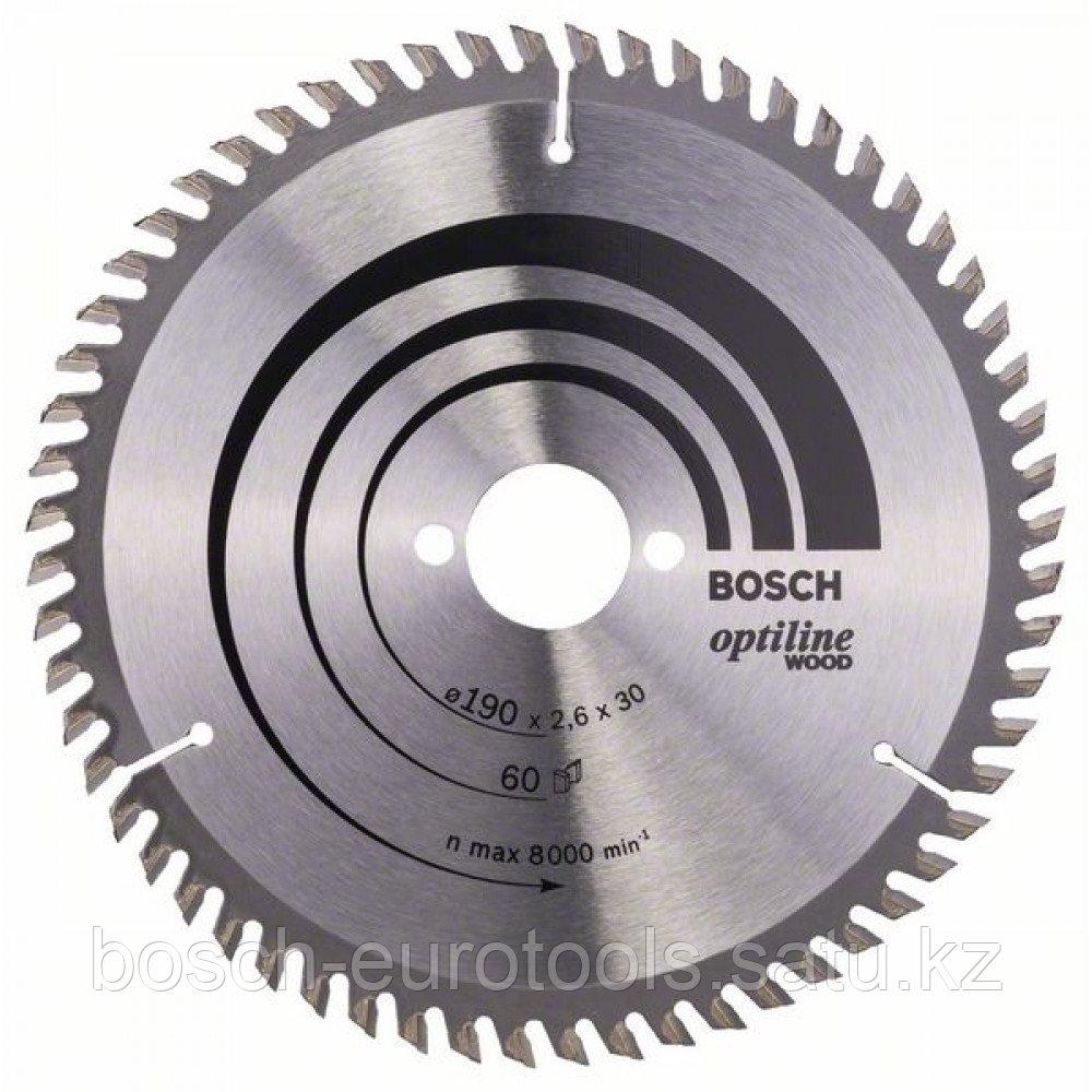 Пильный диск Optiline Wood 190 x 30 x 2,6 mm, 60 в Казахстане