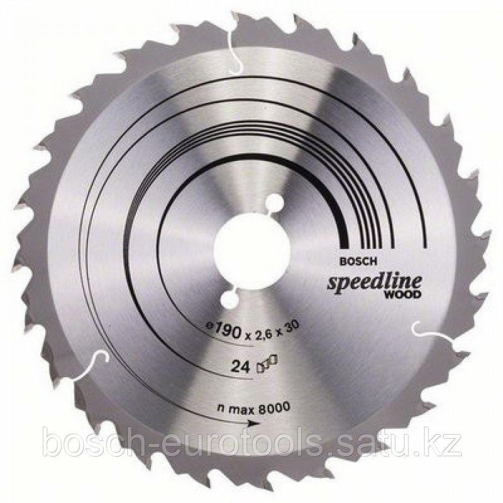 Пильный диск Speedline Wood  190 x 30 x 2,6 mm, 24 в Казахстане