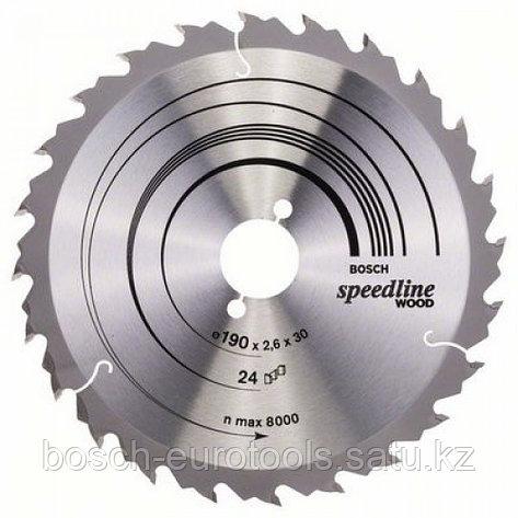 Пильный диск Speedline Wood  190 x 30 x 2,6 mm, 24 в Казахстане, фото 2