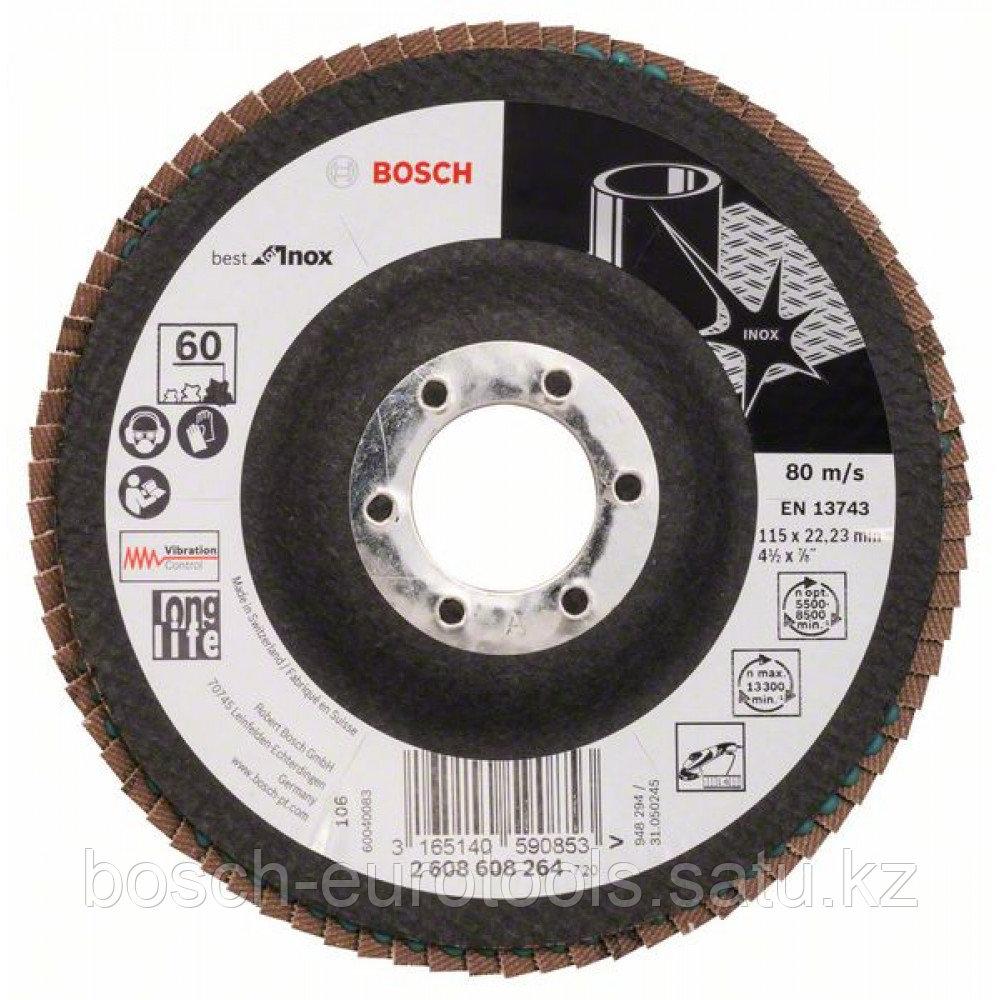 Лепестковый шлифкруг X581, Best for Inox 180 мм, 22,23, 80 в Казахстане