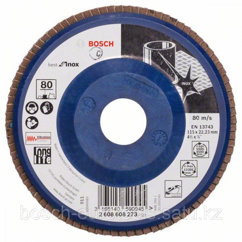 Лепестковый шлифкруг X581, Best for Inox 115 мм, 22,23, 80 в Казахстане