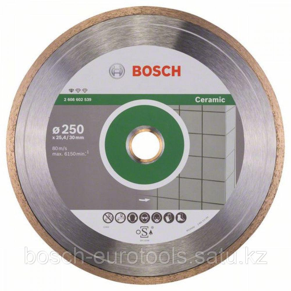 Алмазный отрезной круг Standard for Ceramic 250 x 30+25,40 x 1,6 x 7 mm в Казахстане