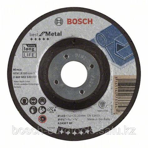 Обдирочный круг, выпуклый, Best for Metal A 2430 T BF, 115 mm, 7,0 mm в Казахстане, фото 2