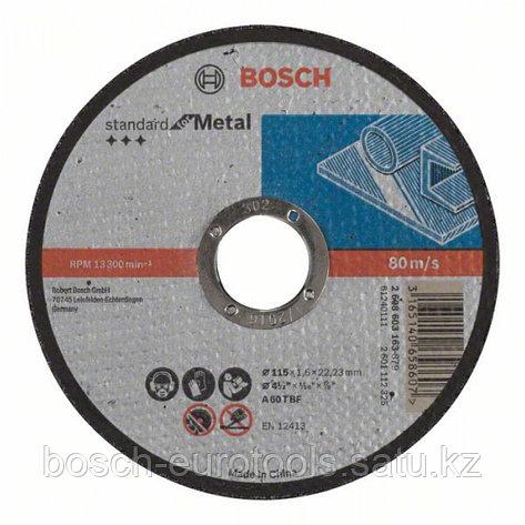 Отрезной диск прямой Standard for Metal A 60 T BF, 115 mm, 22,23 mm, 1,6 mm в Казахстане, фото 2
