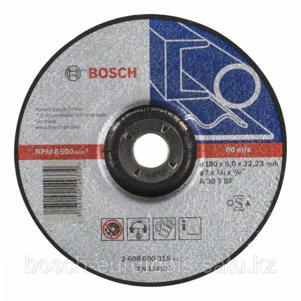 Обдирочный круг, выпуклый, Expert for Metal A 30 T BF, 180 mm, 6,0 mm в Казахстане