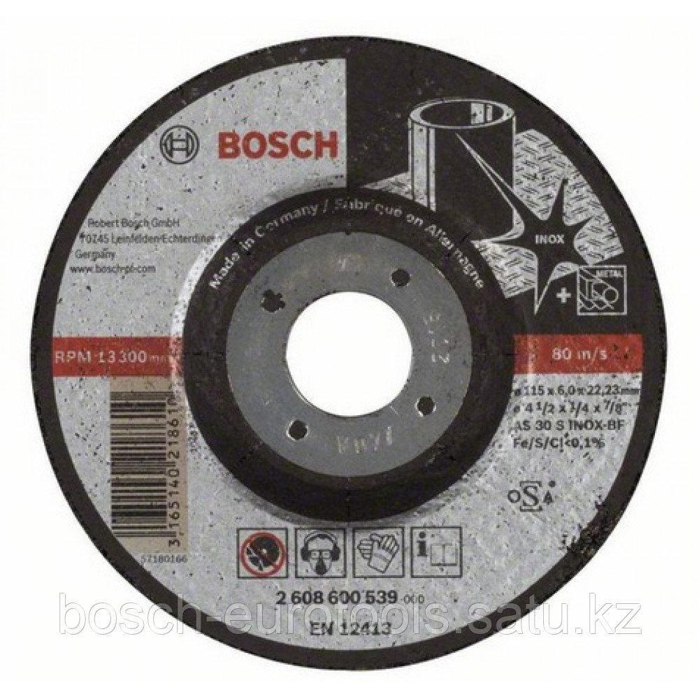 Обдирочный круг, выпуклый Expert for Inox AS 30 S INOX BF, 115 mm, 6,0 mm в Казахстане