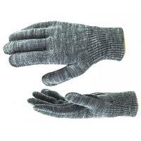 Перчатки трикотажные, акрил, цвет: серая туча, двойная манжета, Россия. СИБРТЕХ