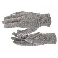 Перчатки трикотажные, акрил, цвет: коричневый, двойная манжета, Россия. СИБРТЕХ