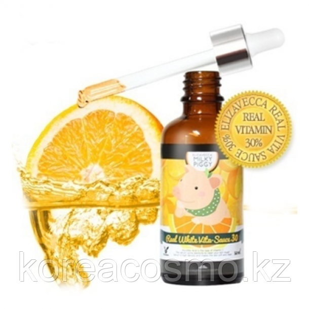 ELIZAVECCA Real White Vita-Sauce 30% Осветляющая сыворотка с витамином С 30%
