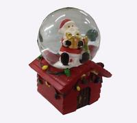 "Шар со снегом ""Дед мороз с подарками"" (7 см)"
