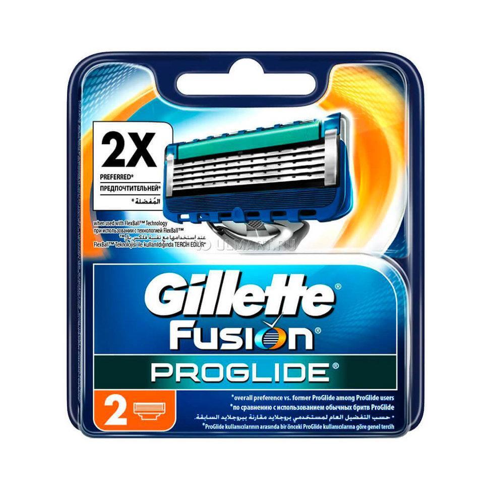 Сменные кассеты Gillette FUSION ProGlide для бритья  2 шт