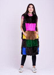 Женские длинные меховые жилетки | зимние и демисезонные модели