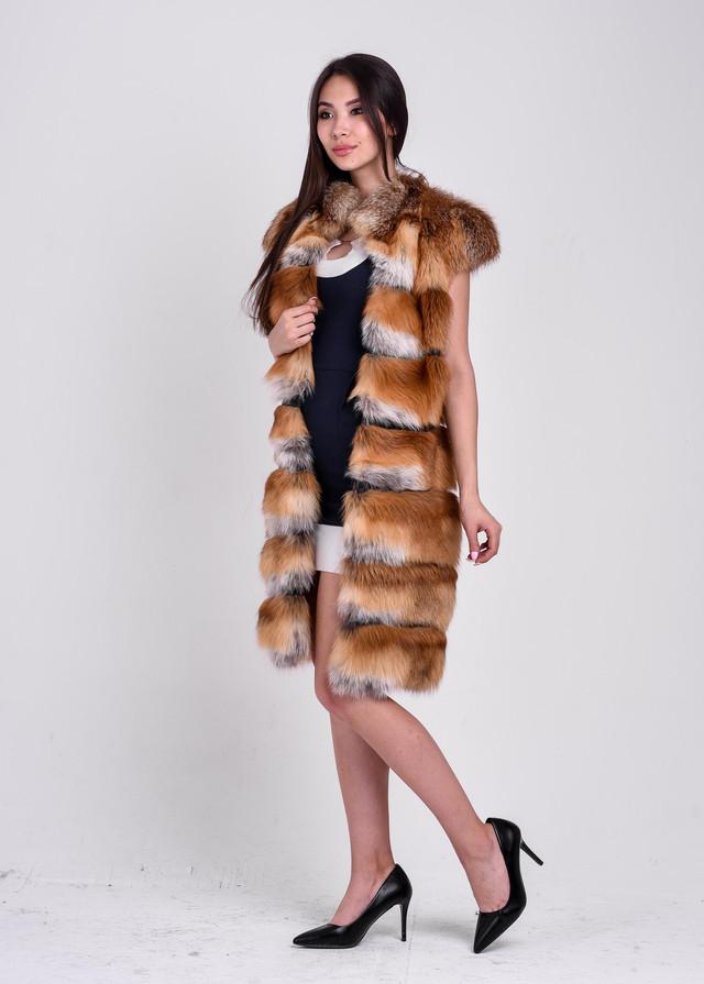 Длинные меховые жилетки от интернет магазина BG-Furs