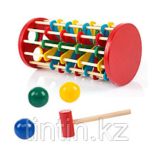 Деревянная игрушка стучалка - Серпантин, фото 2