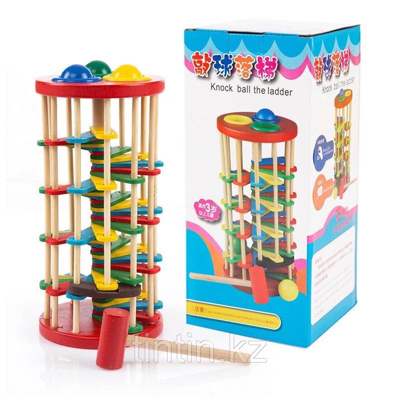 Деревянная игрушка стучалка - Серпантин