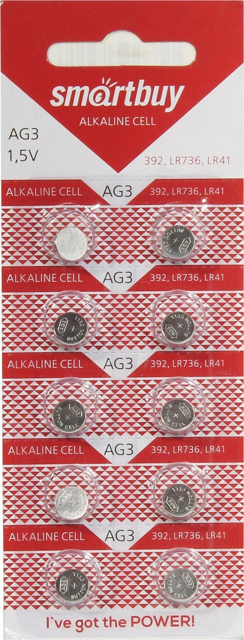 Батарейки LR41 Smartbuy Alkaline Cell AG3 (392, LR736, LR41)