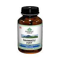 Organic India Immunity, Натуральный препарат для укрепление иммунитета, 90 капсул
