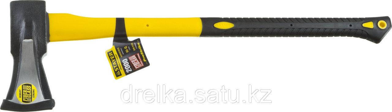 """Топор-колун STAYER """"PROFESSIONAL"""" кованый с двухкомпонентной фиберглассовой рукояткой, """"ушастый"""", 2кг/720мм"""