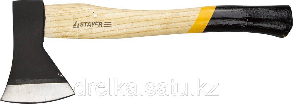 """Топор STAYER """"MASTER"""" кованый с деревянной рукояткой, 0,6кг"""