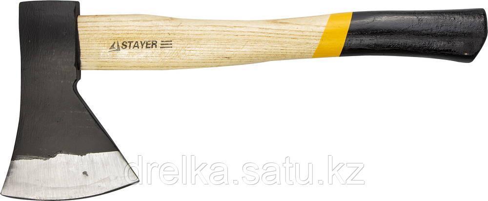 """Топор STAYER """"MASTER"""" кованый с деревянной рукояткой, 1,0кг"""